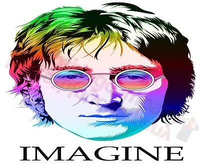 John Lennon Imagine Beatles T-Shirt- Mens Womens Tops - S M L Xl 2Xl 3Xl 4Xl 5Xl