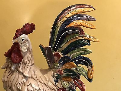 "J. Willfred Large Colorful Ceramic Rooster 23"" X 10"" X 14"""