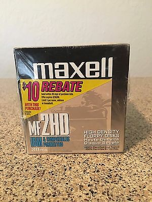 "Maxell (30 PK) MF2HD 3.5"" Floppy Disks High Density ""Sealed"" New"