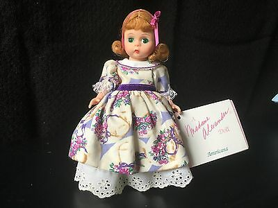 "madame alexander 8"" Wendy Mothers Day doll  -mint- Americana series"