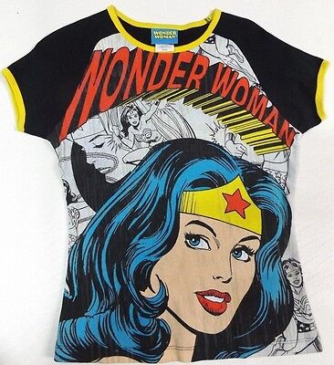 Wonder Woman Cartoon Print Dc Comic's Fitted T Shirt Usa Quality Vintage  Size S