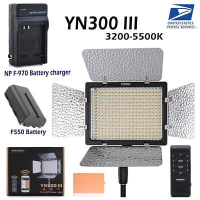 Yongnuo YN 300 III Pro 3200-5500K LED Video Light For Studio DV DSLR Camera US