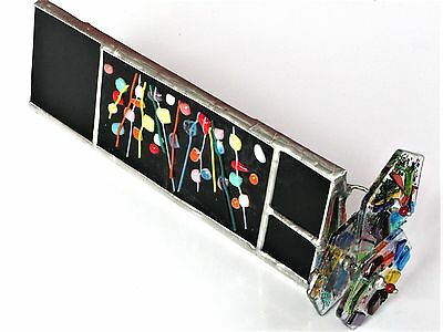 "Goldsmith Kaleidoscope 9"" Mandala Abstract Fused Stained Glass, 3 Disks, 2 Axles"