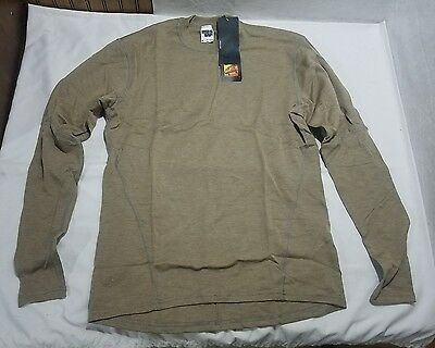 Massif Tan Fire Resistant Combat Shirt Size: Medium Hotjohns Long Sleeve