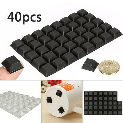 40Pcs Self-Adhesive Rubber Feet Small Stop Bumpers Door Furniture Buffer Pad New