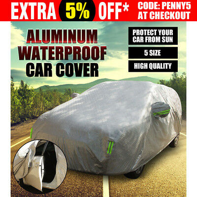 2M New Aluminum waterproof thick car cover rain dust snow resistant UV car cover