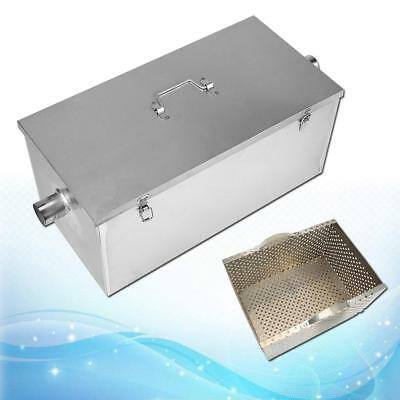"""25LB Stainless Steel Grease Trap Interceptor for Restaurant Kitchen 23""""x12""""x11"""""""