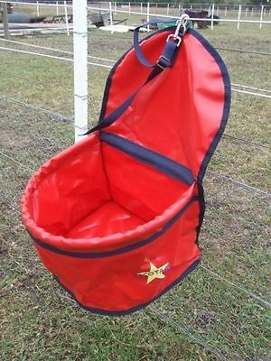 Ecotak PVC Portable Feed Bag - Red & navy Ecotak