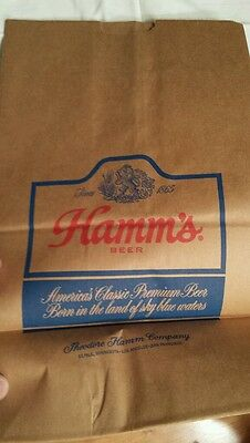 Hamm's Beer, Brown Paper Bag, Advertising, Original, Vintage Collectible, NOS