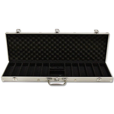 NEW 600 Count Empty Aluminum Poker Chip Storage Case