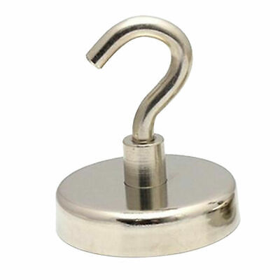2x Heavy Duty 42mm 68kg Neo Magnetic HOOK Industrial Rare Earth Hanger Holder