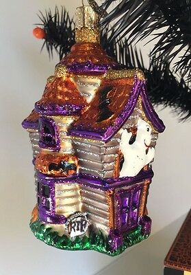 Old World Christmas Glass Ornament - Halloween Haunted House - Hard to Find