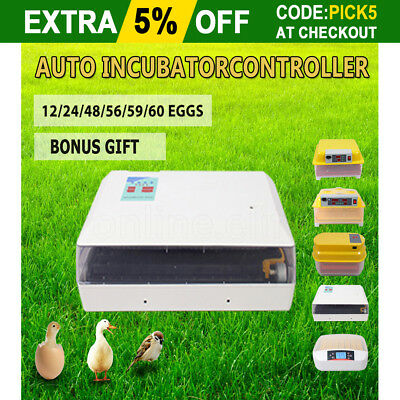 Eggs Incubator Automatic Digital Fully LED Egg Chicken Duck Poultry Hatcher AU