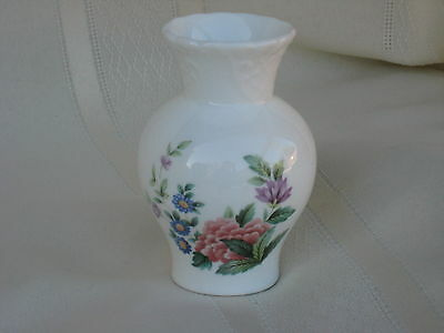 "Coalport Fine Bone China Mayfield Small Bud Vase 3 1/2"" Tall, Made in England"
