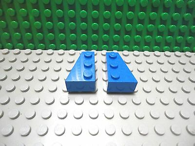 Lego 1 pair of Blue 3x2 wedge plate wings ship NEW
