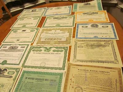 27 Diff. Stocks Certificates & Bonds Lot # 14