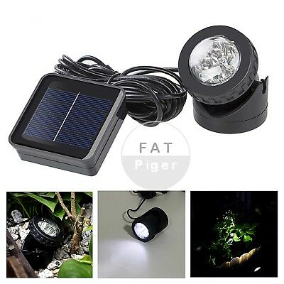 Solar Underwater Projection Lights 6 LED Spotlights Garden Outdoor Pond Lighting