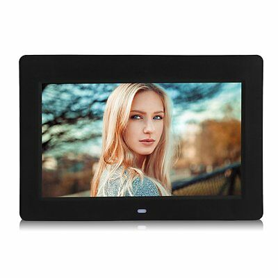 """Digital Photo Frame 10""""Inch LCD Picture Calendar  MP3/4 Movie Player Black US MS"""