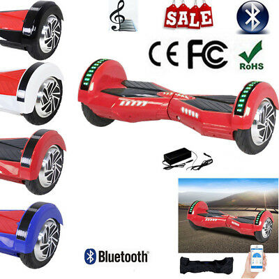 """8"""" Hoverboard Segway Bluetooth&Chargeur&APP&Sac&Seurre Gyropode électrique *SU*"""
