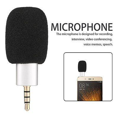Mini Condenser Microphone Digital Stereo 3.5mm for Cell Phone Recorder BU