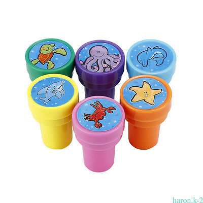 6/8 Pcs Waterproof Cute Animal Stamps Seal Gift Toy FOR Over 3 years old Kids