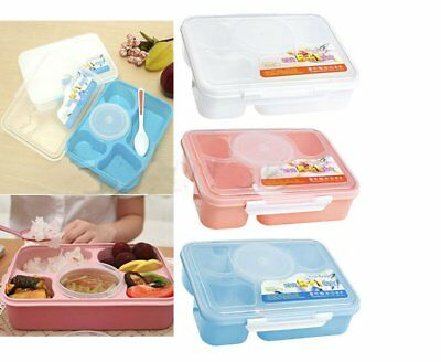 New Microwave Bento Lunch Box + Spoon Utensils Picnic Food Container Storage BU