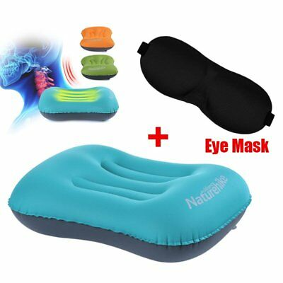 Ultralight Portable Mini Inflatable Air Pillow for Travel Hiking Camping Rest BU