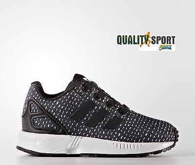 Adidas Zx Flux Bambino Nero Bianco Scarpe Sportive Sneakers BY9855 2017