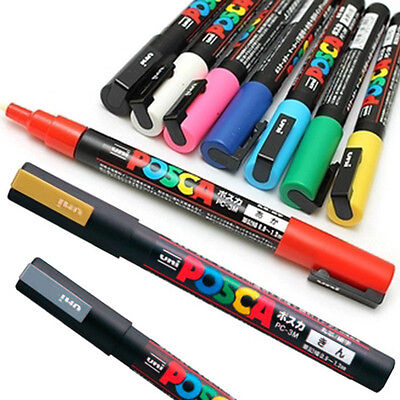 Uni Posca PC-3M 1mm Paint Marker Pen Fabric Metal Glass Extra Fine Bullet Tip