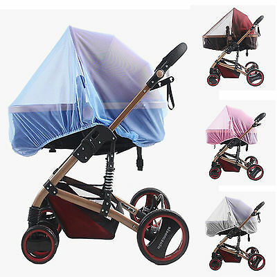 Baby Pram Mosquito Cover Net Pushchair Stroller Fly Insect Dust Protector Cover