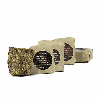Naissance Raw African Black Soap 450g (5 x 90g) with Shea Butter