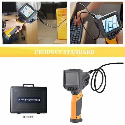 "360° Rotate Flip 3.8"" Video Inspection Camera 1M Cable 8.5MM Borescope QZ"