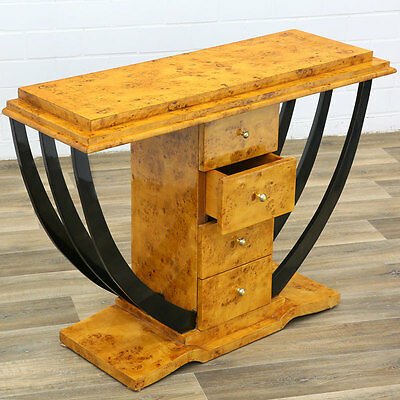 Table Console Commode Style Art Deco En Loupe D'orme