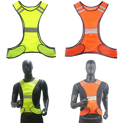 High Visibility Waistcoat Reflective Safe Security Bike Cycle Night Running Vest