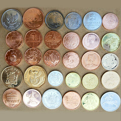 30 countries and regions World Foreign Coins Lots. Collection (30pcs/Set)