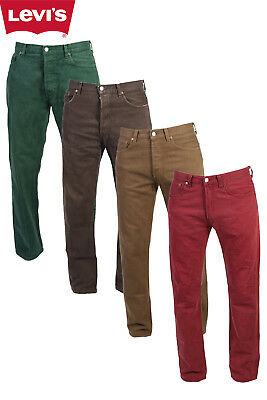 LEVIS 501 JEANS-VINTAGE COLOURED REGULAR FIT DENIM W30 W32 W34 W36 W38 LEVI 501s