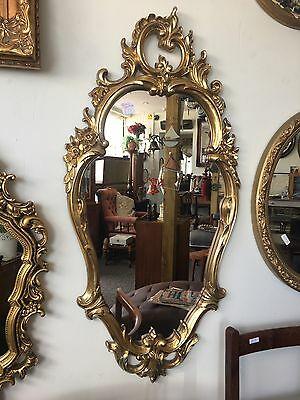 Rococo French Antique Vintage Style Gold Gilt Mirror