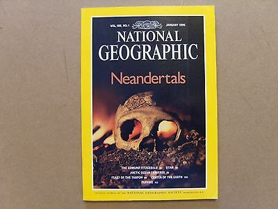 National Geographic Magazine - January 1996 - See Images For Contents