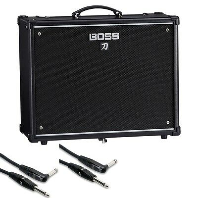 "BOSS Katana 100 100-Watt 1x12"" Guitar Combo Amplifier + Pro Instrument Cables"