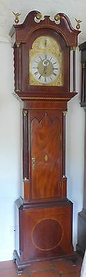 19th Cent Mahogany Musical Longcase Clock