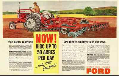 1959 vintage ad for Ford Diesel Tractors and Harrows  -071312