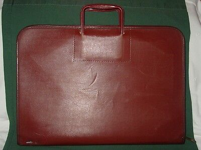 Vintage Drafting Case Portfolio All In One Kit Tools Thin Zipper