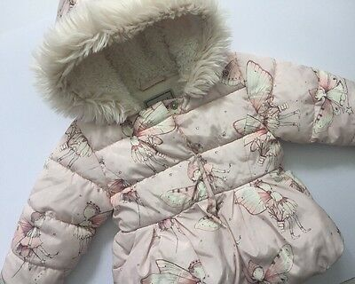 Next Winter Fairies Puffa Jacket Age 12-18 Months Baby Girl