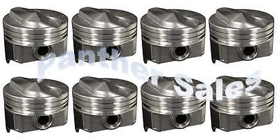 Chevy 7.4 454 Marine Hypereutectic Coated 20cc Dome Pistons Moly Rings Set .030/""