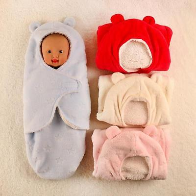 Baby Newborn Winter Swaddle Soft Blanket Blankets Warm Sleeping Infant Fleece