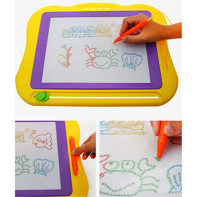10X(DE Magnetic Erasable Colorful Drawing Board Large Size Doodle Sketch_x000D_)