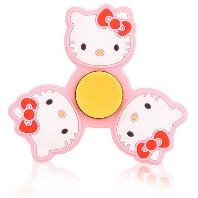 pink kitty cat Tri Fidget Spinner Hand Finger EDC Focus Desk Toy Gyro