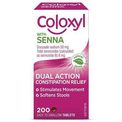 Coloxyl With Senna Softener and Laxative Tablets 200 For Constipation