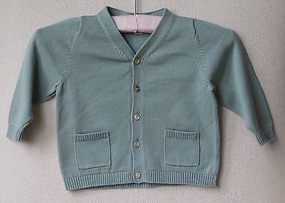 Bonpoint Baby Green Cotton Cardigan 12 Months
