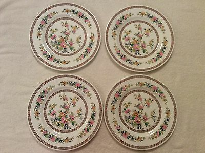 Coalport Bone China 4 Dinner Plates Flowers Floral Pattern Discontinued